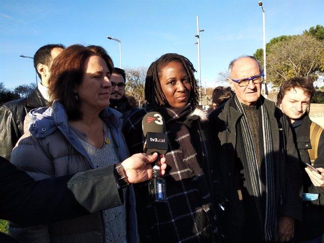 Elisenda Paluzie (ANC) y Priscillia Ludosky (Chalecos Amarillos)