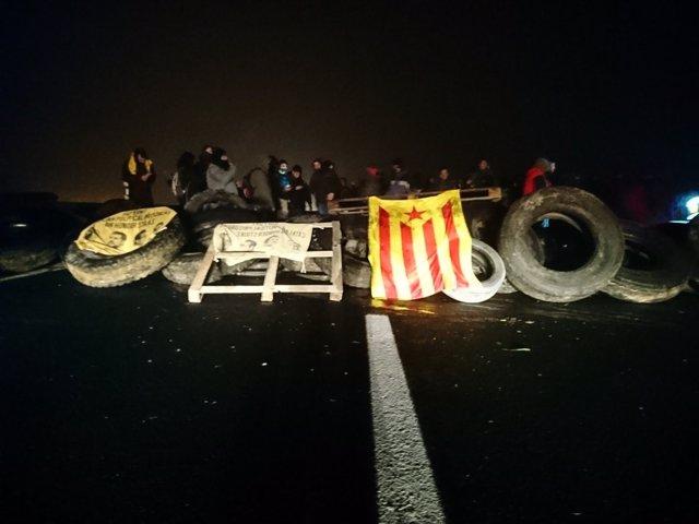 Corte de los CDR en Alcarràs