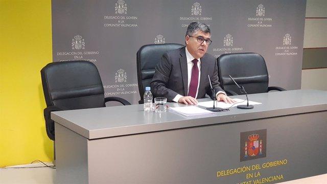 El delegado del Gobierno en la Comunitat Valenciana, Juan Carlos Fulgencio
