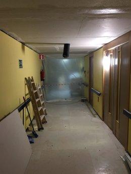 Techo arreglado del hospital