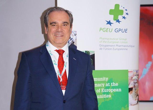 Jesús Aguilar, presidente del CGCOF, en su despedida del PGEU
