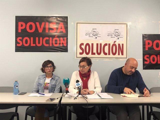 Representantes del comité de Povisa.