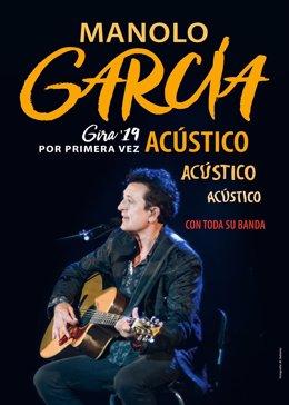 Cartel de la gira de Manolo García
