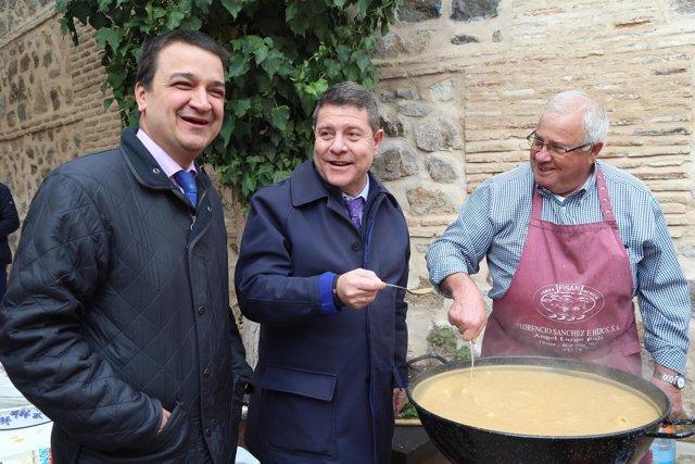 Page y Martínez Arroyo comiendo gachas