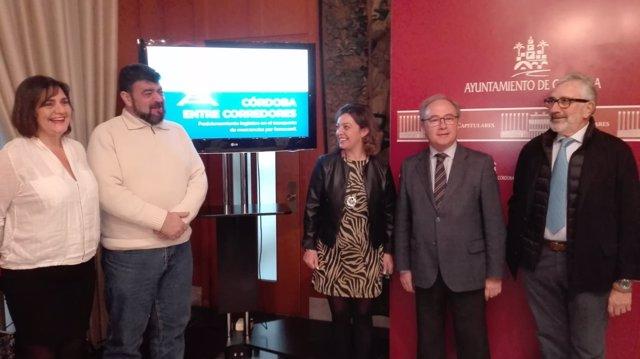 Ambrosio (centro), entre Borrego y Palomares (izda.) y Díaz y Fernández de Mesa