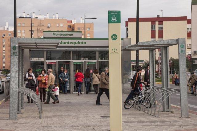 Parada de Metro en Montequinto