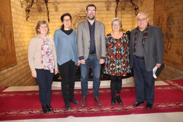 Noguera recibe al director de Cáritas Diocesana de Mallorca