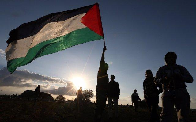 Manifestación en la Franja de Gaza