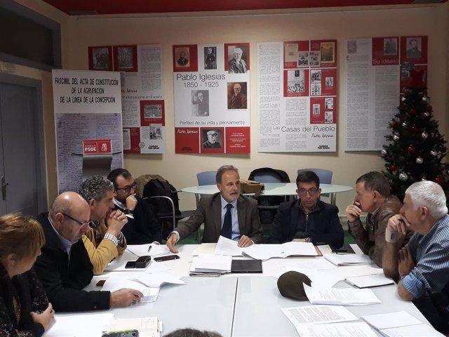 De la Encina en reunión con Grupo Transfronterizo
