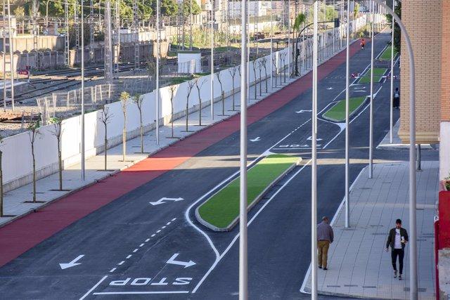 Carretera de Sierra Alhamilla tras las obras de remodelación