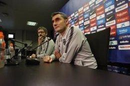 El entrenador del FC Barcelona, Ernesto Valverde, en rueda de prensa