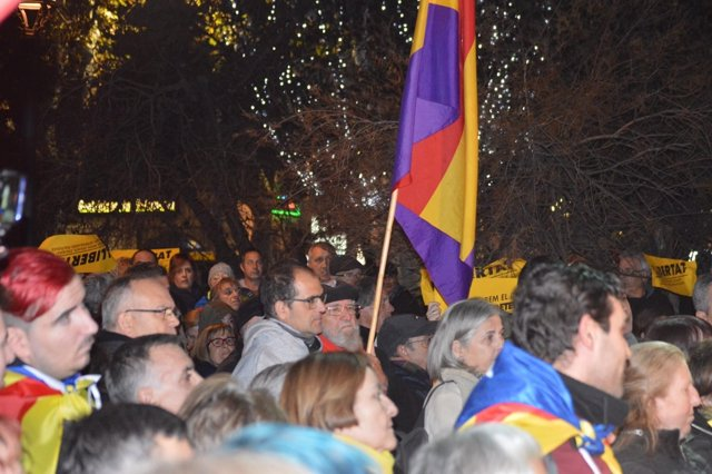 Manifestación en Lleida 'Tumbemos el régimen'