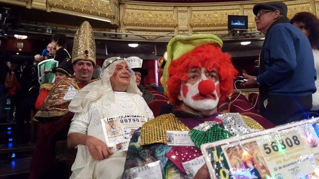 Asistentes al Sorteo de Lotería de Navidad 2018 en el Teatro Real