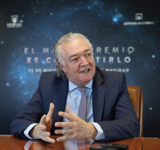 El presidente de Loterías del Estado, Jesús Huerta, presenta el sorteo de Navida