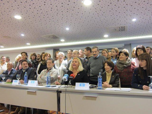 Rueda de prensa de la Asociación Navarra de Víctimas de ETA