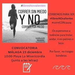 Cartel de 'Correr sin miedo y no correr por miedo'
