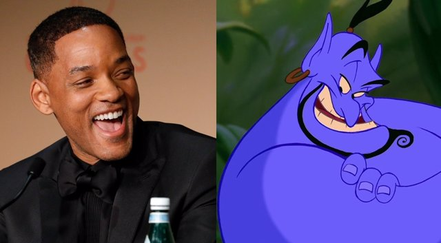 Will Smith es el Genio de Aladdin