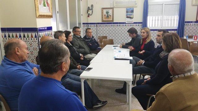 Reunión del Ayuntamiento de Alcalá con la Asociación Primero de Mayo