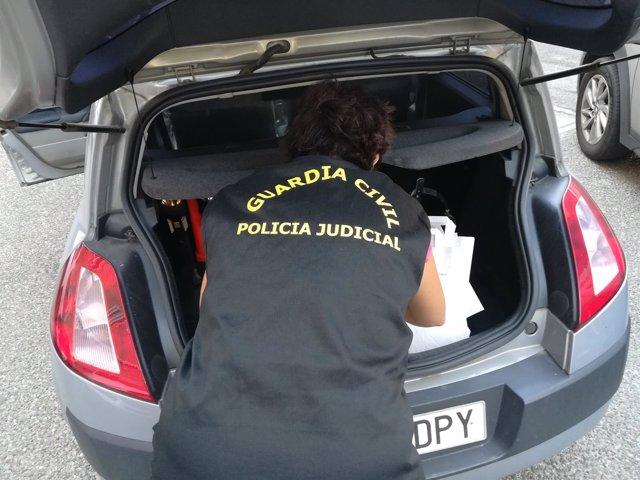 Registro realizado  por la Guardia Civil