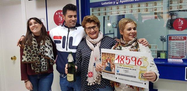 Administración de Talavera que ha repartido el quinto 18.596  Sorteo de Navidad