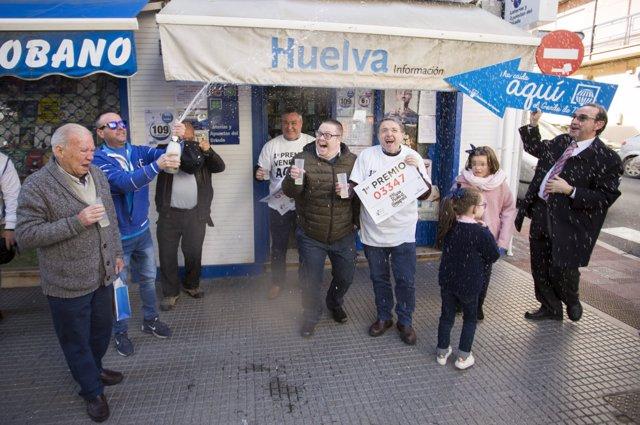 Gordo de Lotería vendido en Huelva capital