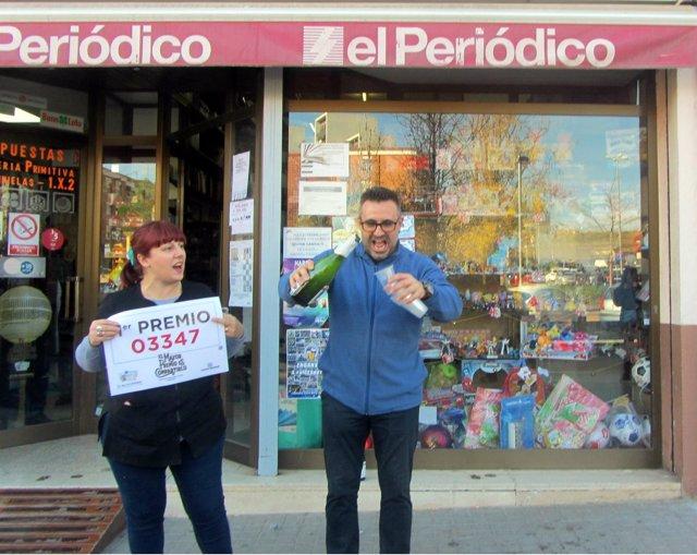 Lotería de Sabadell que ha vendido 4 décimos del Gordo de Navidad