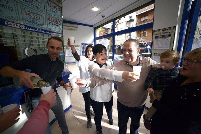 Gordo de la Lotería de Navidad 2018 en Guernica, Vizcaya