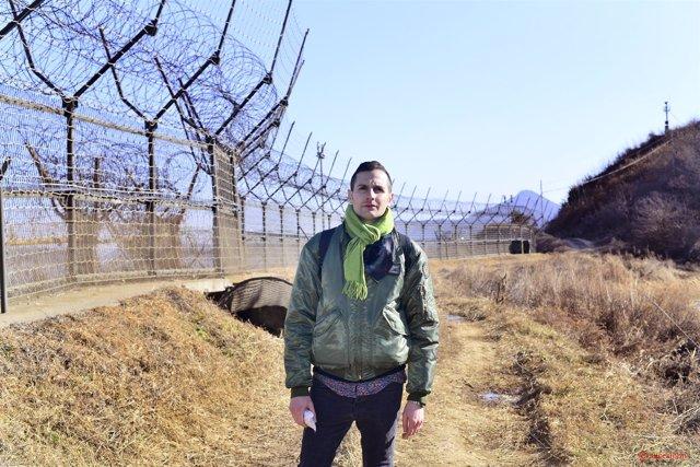 Omar Jeréz, en la frontera de las dos Coreas