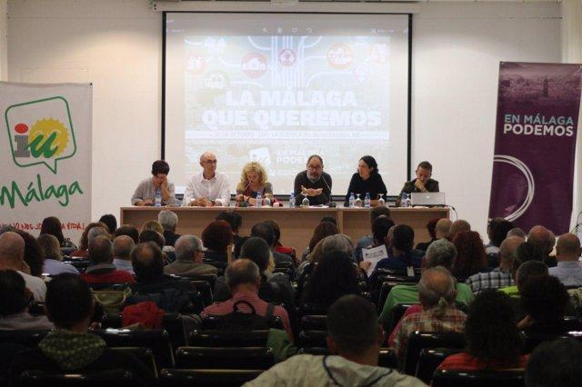 Encuentro entre IU, Podemos y Ecuo