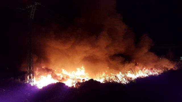 Incendio en una nave de Sollana
