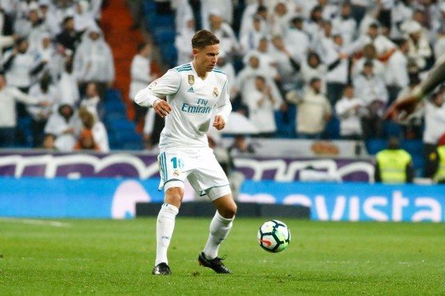 El centrocampista del Real Madrid Marcos Llorente