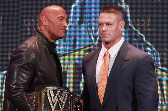 Dwayne Johnson y John Cena