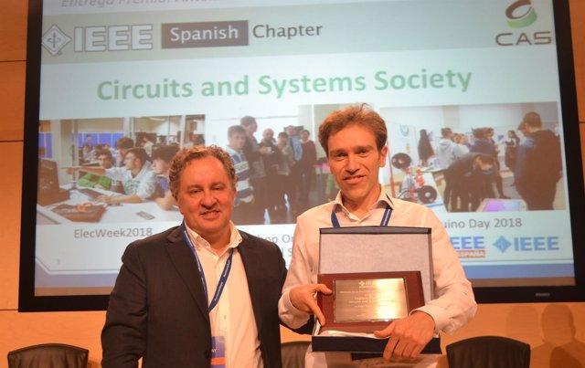 El catedrático de la UPNA Antonio López recibe el premio del  IEEE