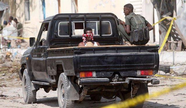 Imagen de archivo de miliciano de Al Shabaab capturado en Somalia