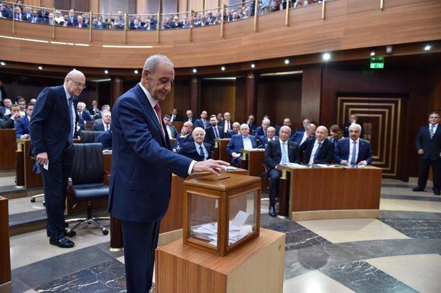 Nabih Berri, presidente del Parlamento de Líbano