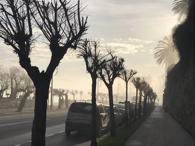 Niebla en el Sardinero (Santander)