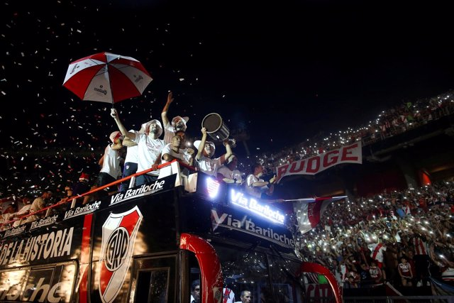 River Plate celebra la Copa Libertadores con su afición