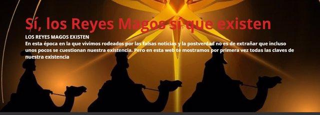 Página web sobre los Reyes Magos
