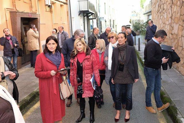La alcaldesa de Santander, Gema Igual, visita la calle San Sebastián