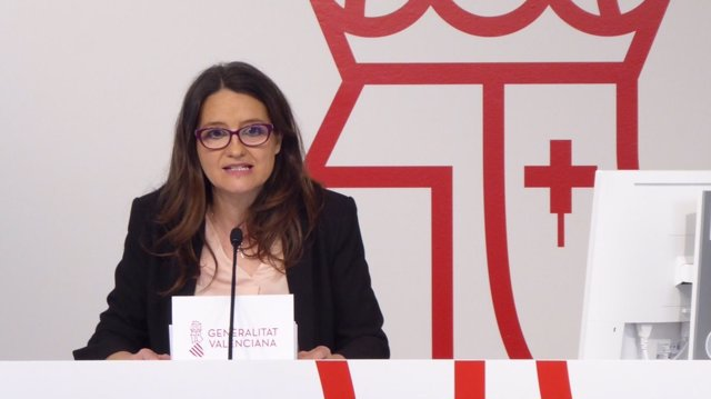 Mónica Oltra en la rueda de prensa tras el pleno del Consell