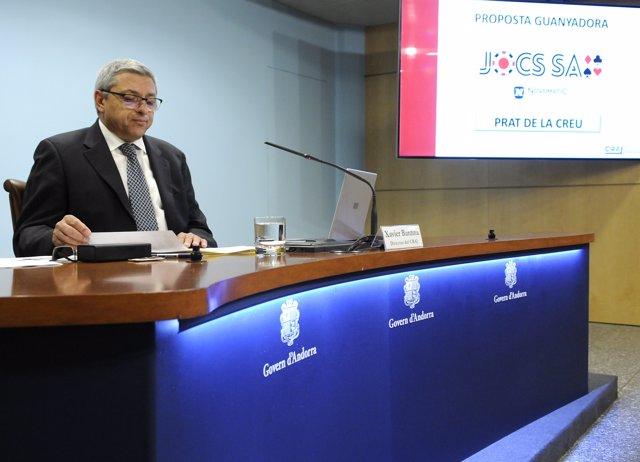Xavier Bardina, dtor. Consell Andorrà Regulador del Joc (Arxiu)