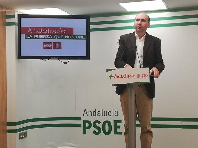 Francisco Conejo málaga psoe-A rueda de prensa secretario relaciones institucion