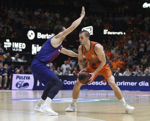 Matt Thomas en el Valencia Basket - Barça Lassa