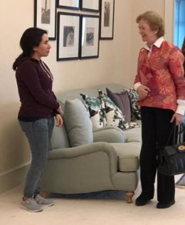 Princesa Latifa bin Mohamad al Maktum y Mary Robinson