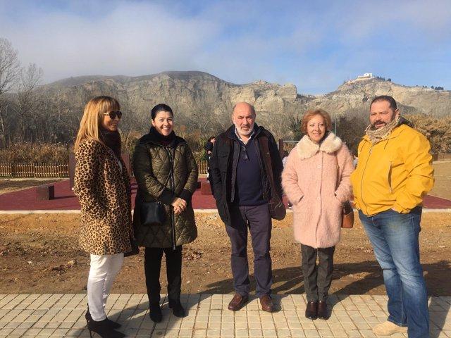 El alcalde de Calatayud ha inaugurado el Parkour Park en el parque de la Sernna