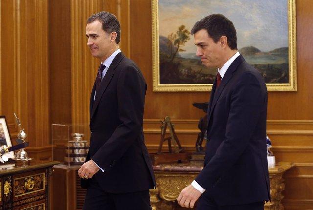 Pedro Sánchez y el rey Felipe VI