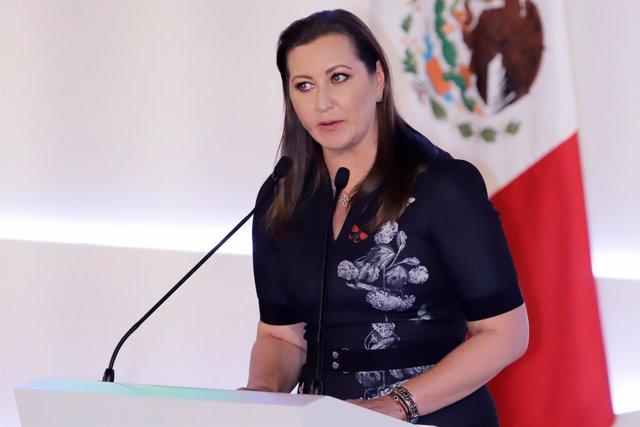 La gobernadora de Puebla, Martha Erika Alonso