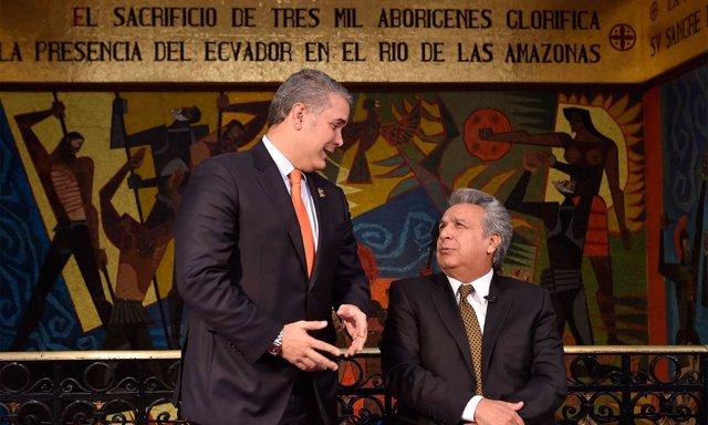 Iván Duque y Lenín Moreno