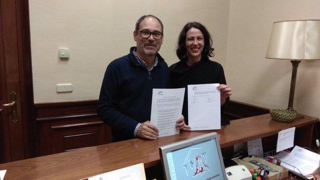 Eva García Sempere y Alberto Montero en el Congreso