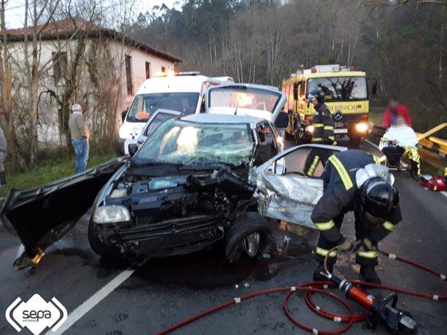 Accidente en Llanes